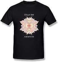 SUAMDAN Men's Zella Day Compass A Dreamy Voice in California T Shirt Black
