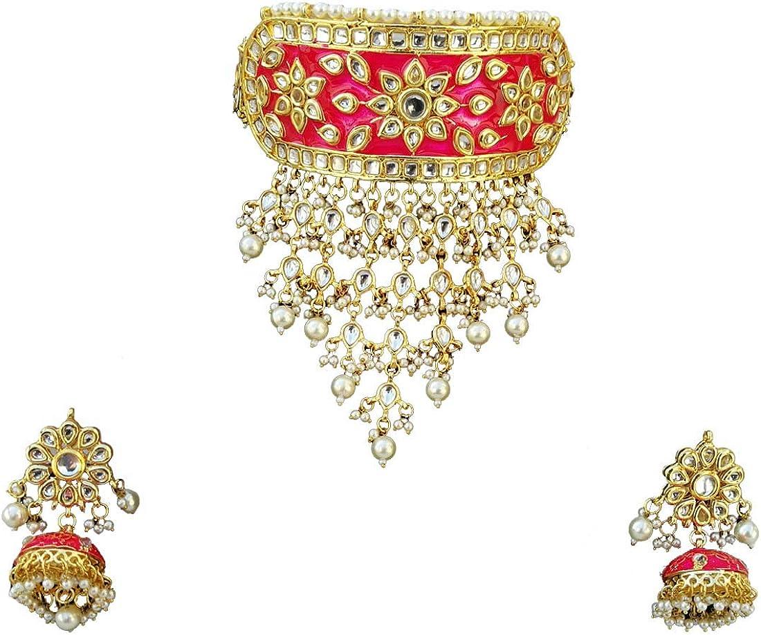 Finekraft Special sale item Meena Kundan Bridal Wedding Designer Gold Max 71% OFF Pearl Plated