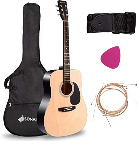 Acoustic Folk Guitar, Safeplus Beginners 6 Strings Guitar