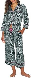 Leopard Charmeuse Cropped Pajama Set