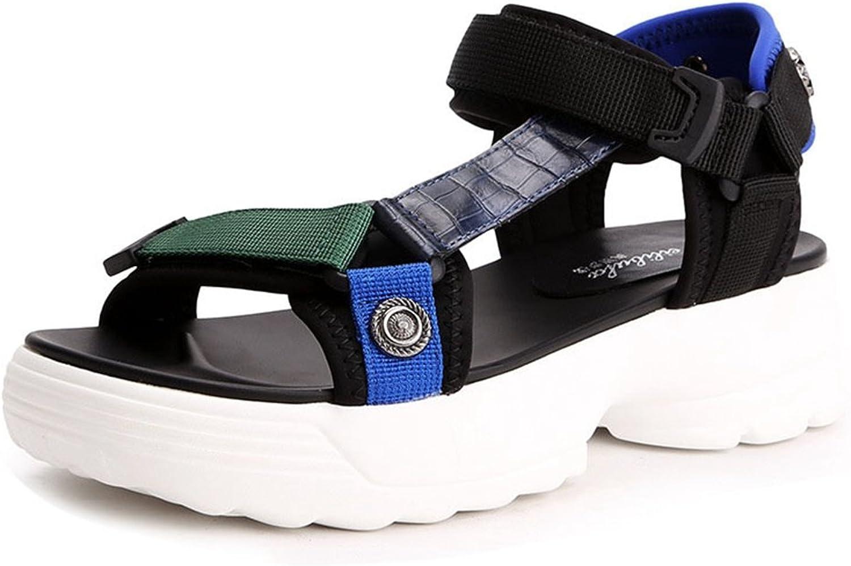 GIY Women's Wedges Heeled Sandal Summer Outdoor Comfort Peep Toe Slip On Water Platform Sandals Sneaker