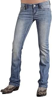 Stetson Women's 818 Flap Back Pocket Jeans Plus Size - 11-11-054-0818-0370 Bu_X