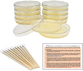 EZ BioResearch Bacteria Science Kit (IV): Top Science Fair Project Kit. Prepoured LB-Agar Plates And Cotton Swabs. Exclusi...
