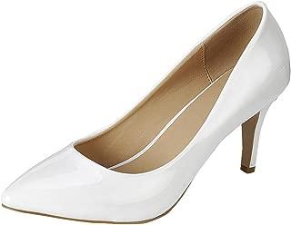Women's Classic Pointed Toe Comfort Stiletto Mid Heel Pump