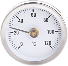 Yuayan Pipe Clip-On Dial Thermometer Temperature Bimetal Temp Gauge & Spring 63mm 120℃