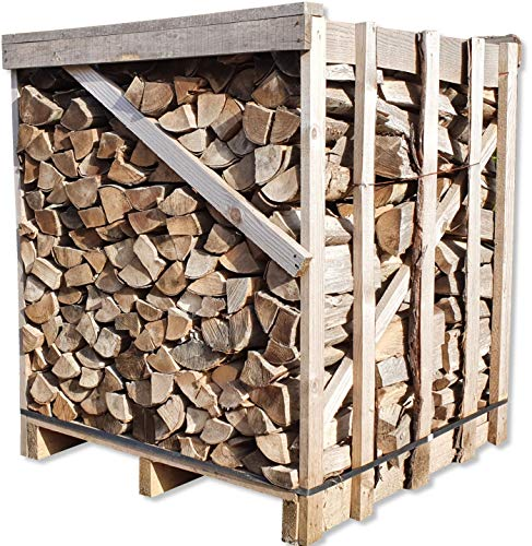 Buche 33cm RM Box Brennholz trocken + UNION Briketts Gratis Kaminholz ofenfertig Holz Feuerholz Scheitholz Kaminfeuer Lagerfeuer Pizzaofen 1RM=ca.1,2 Ster=ca.1,5m³-SRM=ca.450kg Energie Kienbacher