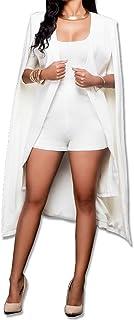 SOMTHRON Women's Long Open Slit Sleeve Cloak Capes Jacket 4XXL Open Front Long Slit Blazer Cape Coat Plus Size