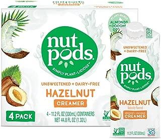 nutpods Hazelnut Dairy-Free Creamer (4-pack) Unsweetened Whole30/Paleo/Keto/Vegan/Sugar Free