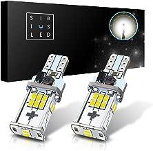 SiriusLED High Power Extremely Bright 3020 Canbus Error Free 1000 Lumen Xenon White 921 912 T15 Backup Reverse LED Light Bulbs