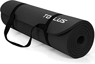 TOPLUS Tjock gymnastikmatta ftalatfri yogamatta, halkfri och skonsam mot lederna sportmatta för yoga pilates sport med pra...