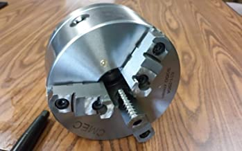 """8"""" 3-JAW SELF-Centering Lathe Chuck top & Bottom Jaws, 1-1/2""""-8 Adapter Plate-Brand New"""