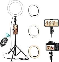 Ring Light, Met Een Uitbreidbaar Statief, Met 3 Kleurenmodi En 10 Helderheid, 10 Inch LED Vullicht En Telefoonhouder Voor ...