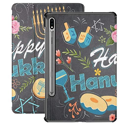 Greeting Happy Festival Celebration Samsung Tab A Case For Samsung Galaxy Tab S7/s7 Plus Case Galaxy S7 Stand Back Cover Samsung Galaxy Tab S7 Book Cover For Galaxy Tab S7 11 Inch S7 Plus 12.4 Inch