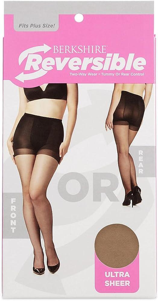 Berkshire Women's Plus Size Reversible Ultra Sheer Control Top Pantyhose