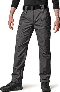 شلوار تاکتیکی مردانه CQR ، شلوار باربری Ripstop ضد آب ، شلوار سبک پیاده روی EDC ، لباس در فضای باز