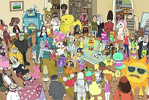 Jigsaw Puzzle de Madera de Rick y Morty Grande Animado 300/500/1000 Piezas for Adultos Educación Familia Niño Juguete Divertido Juego de decoración Boy Amigos Regalo de la Muchacha
