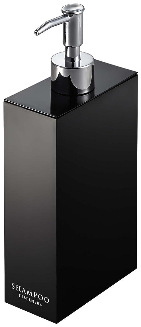 大胆レイプ暖炉山崎実業 ツーウェイディスペンサー シャンプー ブラック 約W5.2×D10.5×H23cm ミスト 7900