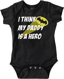My Daddy is Bat Cute Fathers Day Comic Hero Romper Bodysuit