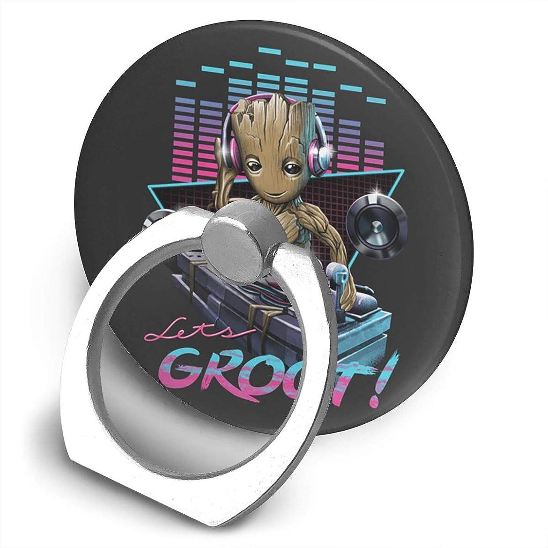 舗装と遊ぶ盆地Let's Groot! Guardians Of The Galaxy Vol 2 スマホ リング ホールドリング 指輪リング 薄型 おしゃれ スタンド機能 落下防止 360度回転 タブレット/スマホ IPhone/Android各種他対応