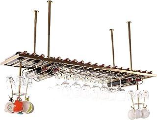 YZ-YUAN Supports à vin de Plafond durables, Porte-Bouteille de vin Vintage Suspendu, passionné de vin à Hauteur réglable p...