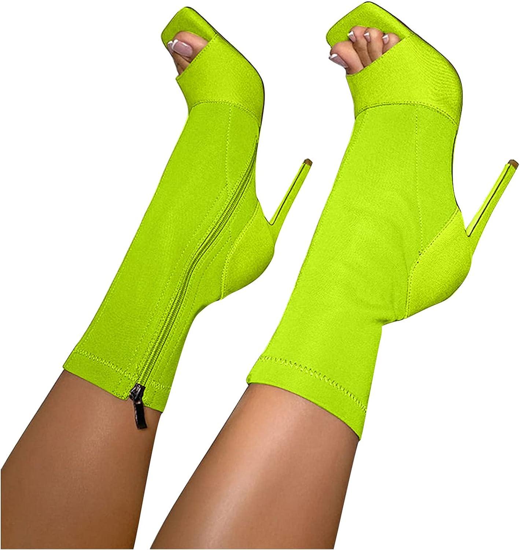 Zieglen Cowboy Boots for Women Toe Heel Peep Fixed price sale 2021 spring and summer new Stilettos Women's