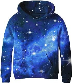 Teen Boys' Galaxy Fleece Sweatshirts Pocket Pullover Hoodies 4-16Y