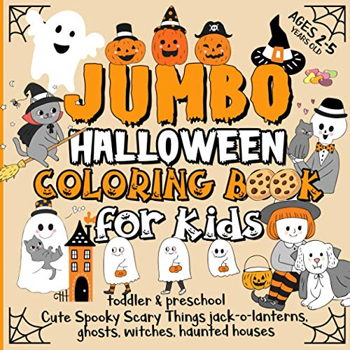 Jumbo Halloween Coloring Book for Kids