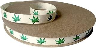 Cream City Ribbon Cannabis Leaf Organic Cotton Curling/Craft Ribbon, 1/2