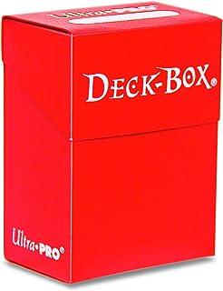 Asmodee - 81452 - Accessoire de jeu de cartes à jouer et à collectionner - Boîte polydeck pour 75 deck protectors - rouge ...