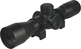 DB TAC 4X32 Compact Multi Range Reticle Scope Red Green with Rings