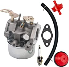 SaferCCTV Replacement 640349 640052 640054 Carb Carburetor Fuel Filter Line and Spark Plug for Tecumseh 640058 640058A 8HP 9HP 10HP Snowblower