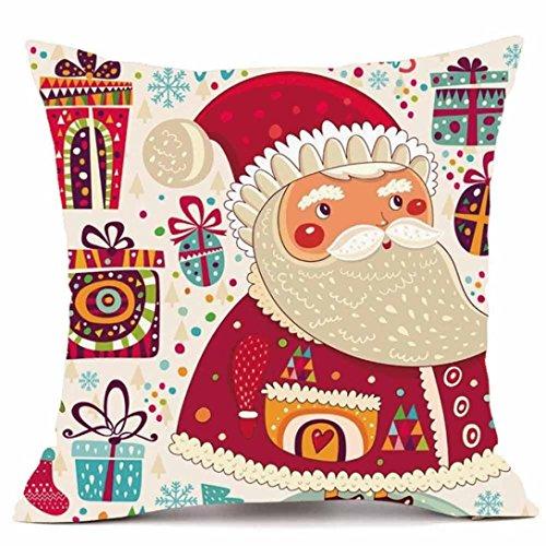 bescita Joyeux Noël Super Cachemire Canapé Housse de coussin Home Decor taies d'oreiller A