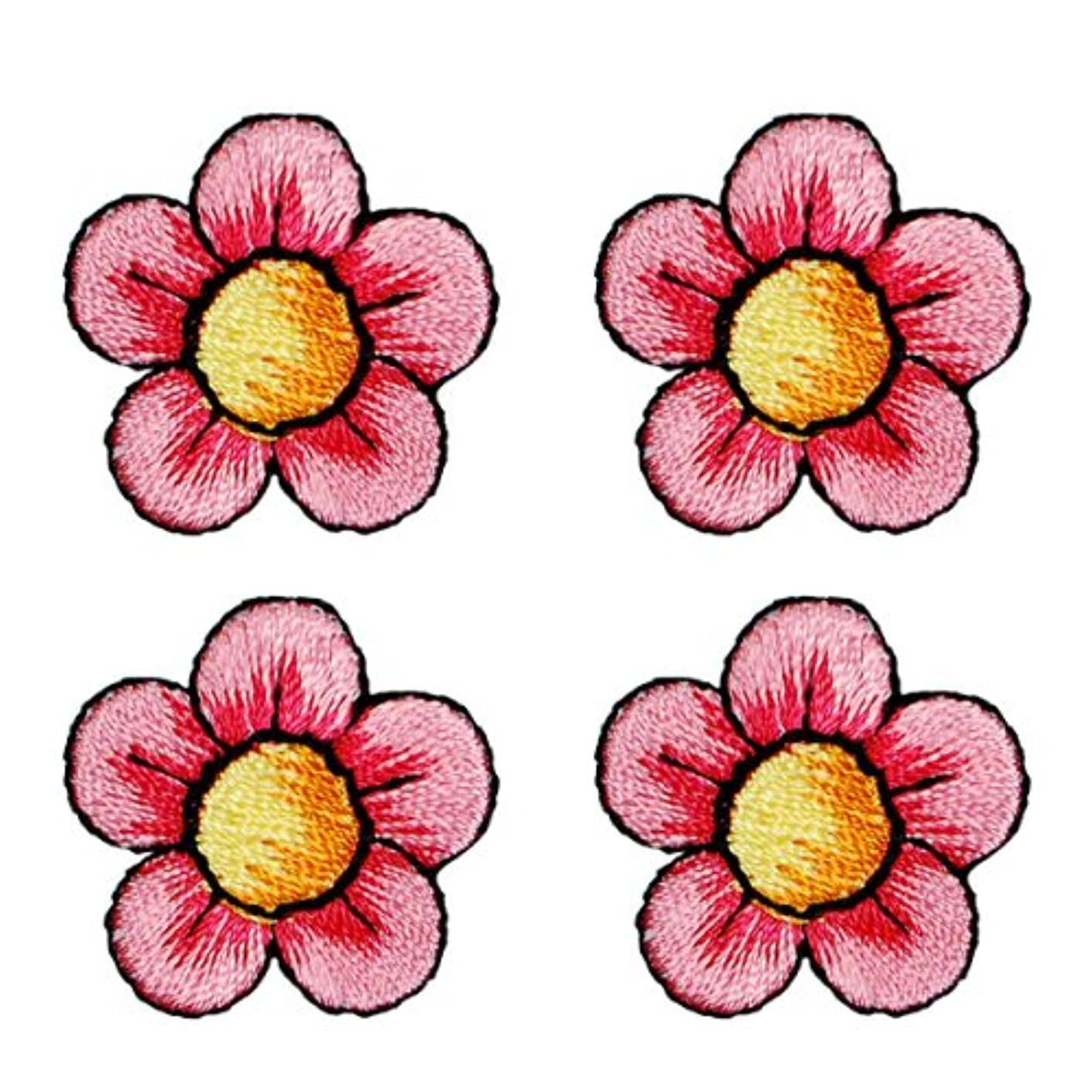 Expo BZP77587 Iron-on Embroidered Applique Patches, BaZooples Flower, 4-Pack