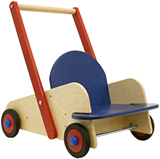 HABA Walker Wagon - First Push Toy with Seat & Storage for 10 Months and Up