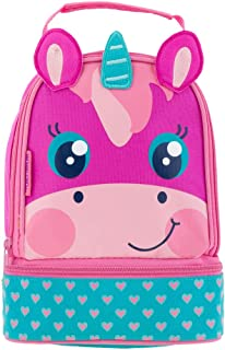 Pink and Teal Unicorn with Hearts Print Design Lunch Pals Lunch Box Bag for Back to School