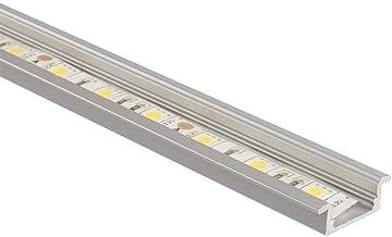 LEDKIA LIGHTING Perfil de Aluminio Empotrado 1m para Tiras LED TranslúcidoTranslúcido