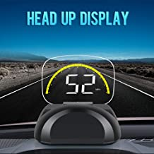 iKiKin Car Head Up Display with OBD GPS Dual Mode Universal HD HUD Display for Car Foldable Dashboard Projector of Speedometer Engine RPM Water Temperature Alert
