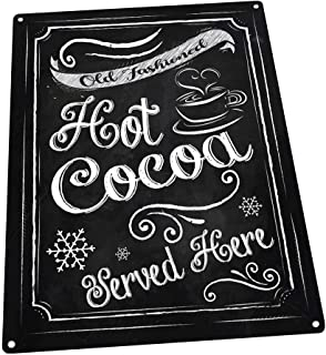 Hot Cocoa Metal Sign, Winter, Holiday, Christmas, Kitchen Decor