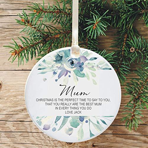 Leoner22art Weihnachtsbaum-Gedicht Mum, personalisierbar, Keramik