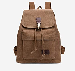 Retro Rucksack, Brown Travel Travel School Bag Backpack, Used for Laptop Hiking School School Bag