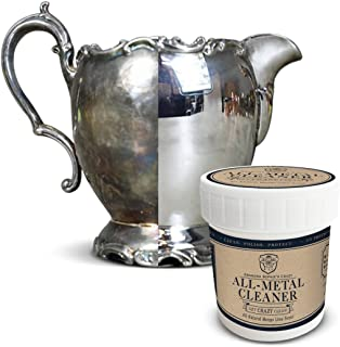 All Metal Cream Polish & Cleaner:Multi Purpose Metal Polisher Cleans & Protects Copper, Sterling Silver, Brass and Stainless Steel-Rust & Tarnish Remover-Includes Sponge Applicator-6 oz