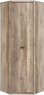 SMARTBett Malkolm Armoire d'angle 74,5 cm Armoire 1 porte Chêne Canyon avec inscription