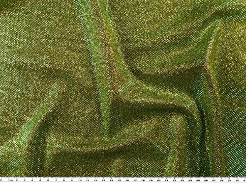 ab 1m: Lurex Jersey, türkis-gold, 150cm breit