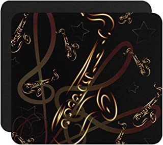 Saxophone On Abstract Background Computer Laptop Gaming Mouse Pad