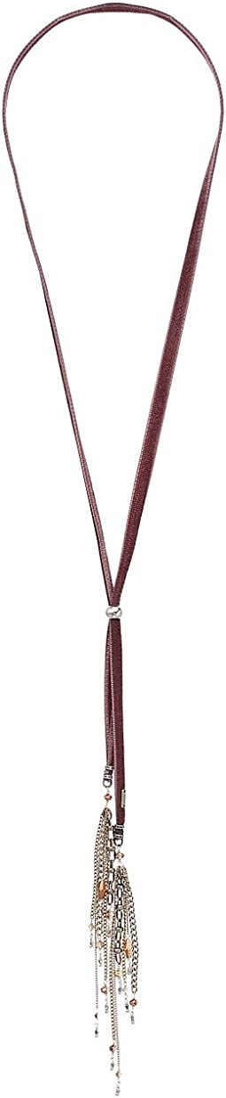 Chan Luu - Adjustable Velvet Necklace with Metal Fringe