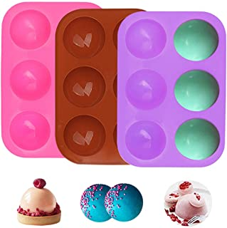 Moules à Muffins, 3 Pièces Moule Silicone Patisserie 18 Cannelés Moulle à Cupcakes de Cuisson Anti-adhésif Réutilisables p...