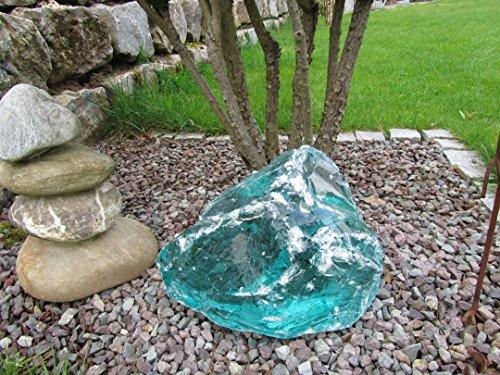 Glasbrocken Türkis Glasstein Naturprodukt ca.20-30cm Gewicht:ca.10-15kg