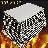 NO LOGO 12pcs 1pc 50cmX30cmX10mm / Set Ruido de Coches Mat insonorización Deadener Calor de Aislamiento de Espuma de célula Cerrada Matar una Estera de la Capilla