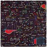 BONRI Juego de 6 servilletas de Tela con patrón de Figuras geométricas de cálculo de fórmulas matemáticas, servilletas de poliéster Lavables para la Cena, para la Mesa de Comedor, Bodas,20'X20'