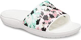Crocs Classic Tie-Dye Mania Slide Multi/White Men's 3, Women's 5